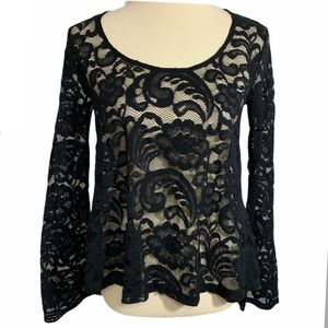 Express See Through Lace Top